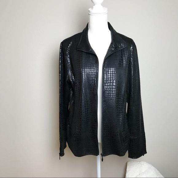 FDJ French Dressing Jackets & Blazers - FDJ Faux Leather Lightweight Jacket